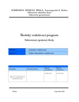 Školský vzdelávací program
