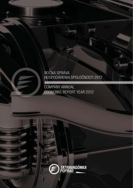 ročná správa hospodárenia spoločnosti 2012 company annual