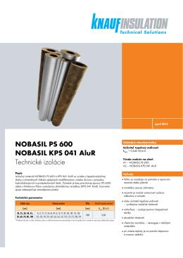 NOBASIL PS 600 NOBASIL KPS 041 AluR Technické