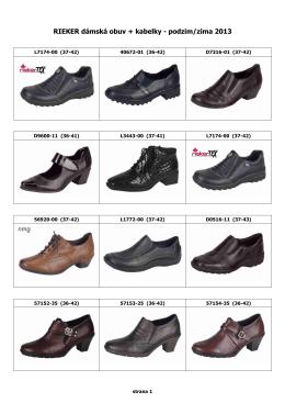 RIEKER dámská obuv + kabelky - podzim/zima 2013