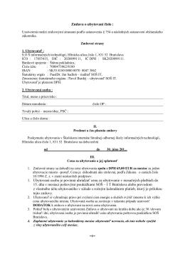 Zmluva o ubytovaní číslo : -3-2013 1. Ubytovaná osoba je povinná
