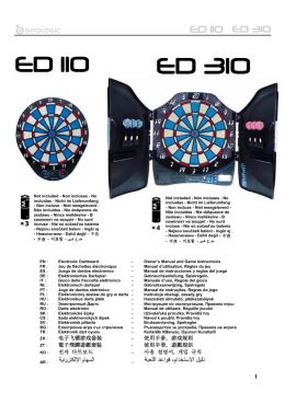 电子飞镖游戏套装 使用手册,游戏规则 電子飛鏢遊戲套裝
