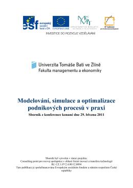 Modelování, simulace a optimalizace podnikových