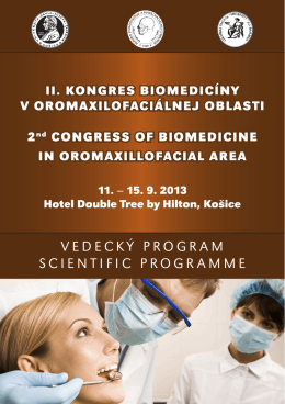 bulletin (PDF file 1 MB) - II. Kongres biomedicíny v