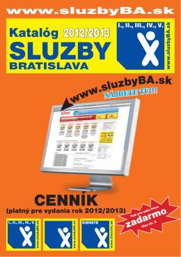 CENNÍK - Dienste Bratislava 2012/2013