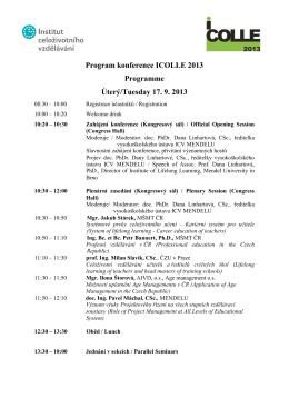 Podrobný program konference
