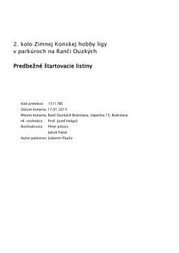 2. kolo ZKHL - Konská Hobby Liga