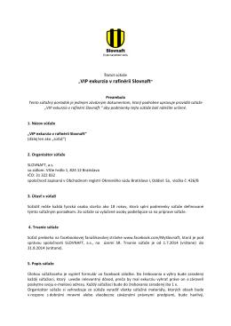 Štatút súťaže Rafinéria Slovnaft_FINAL