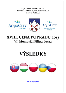 VÝSLEDKY - aquap.sk