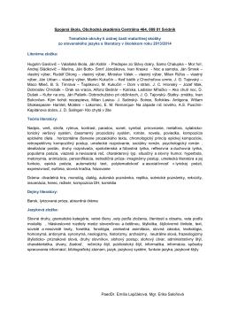 Tematické okruhy pre maturitnú skúšku zo slovenského jazyka a