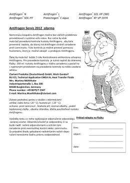 Antifrogen-Servisne informaice SK