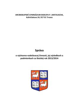 Správa o výchovno-vzdelávacej činnosti 2013_2014.pdf