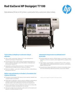 Rad tlačiarní HP Designjet T7100