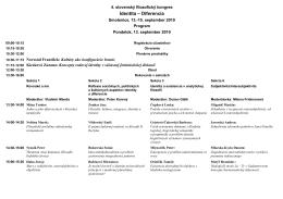Program - Slovenské filozofické združenie pri SAV