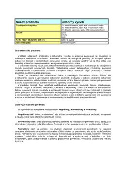 Dodatok k ŠKVP29C-potr-OV - Stredná odborná škola obchodu a