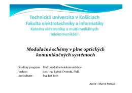 Modulačné schémy v plne optických komunikačných systémoch