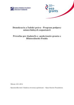 Demokracia a ľudské práva - Program podpory mimovládnych