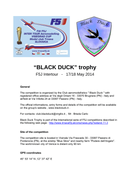 """BLACK DUCK"" trophy"