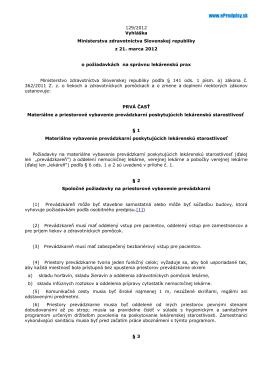 Text vyhlášky - Epredpisy.sk