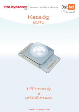 Katalóg na LED moduly a príslušenstvá