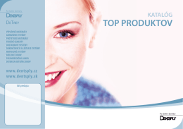 Katalóg Dentsply - dentalmarket.sk