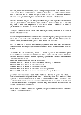 PEREGRÍN, občianske združenie na pomoc onkologickým