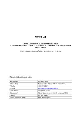 SPRÁVA - zskomnam.edu.sk