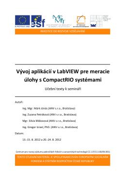 Vývoj aplikácií v LabVIEW pre meracie úlohy s CompactRIO