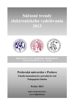 Súčasné trendy elektronického vzdelávania 2013 Prešovská