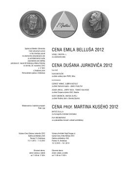 Ceny SAS-2012-mail.pdf - Spolok architektov Slovenska