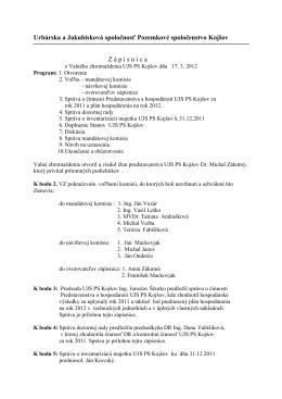 Zápisnica z VZ 2011 - Urbárska a Jakubisková spoločnosť