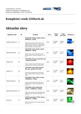 LED diódy - LEDtech.sk