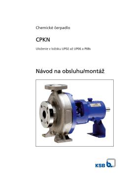 CPKN Návod na obsluhu/montáž