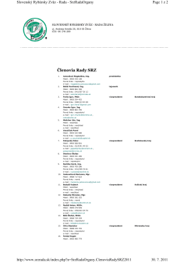 Členovia Rady SRZ 2011