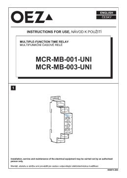Multifunkčné časové relé - MCR-MB-001-UNI, MCR-MB-003