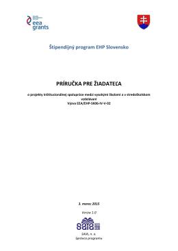 príručka pre žiadateľa - Štipendijný program EHP Slovensko