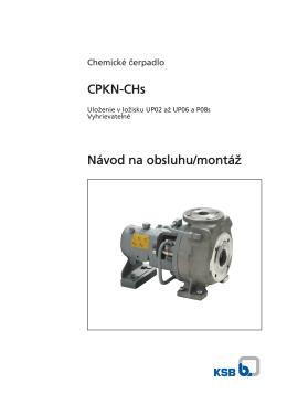 CPKN-CHs Návod na obsluhu/montáž