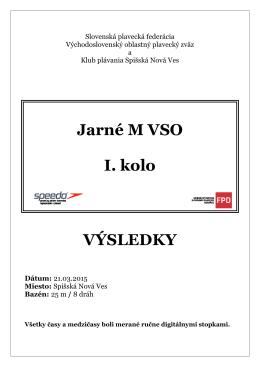 Jarné M VSO I. kolo VÝSLEDKY
