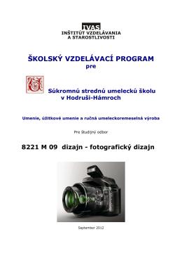−kVP 8221 M 09 Fotografický dizajn