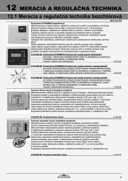 MERACIA A REGULAČNÁ TECHNIKA 12.1 Meracia a