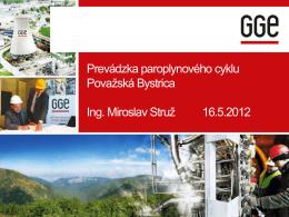 Paroplynový cyklus - Považská Bystrica