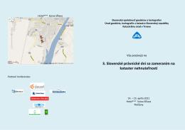 Pozvánka (pdf) - Slovenská spoločnosť geodetov a kartografov