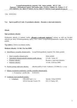 Správa podľa § 21 ods. 2