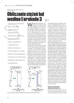 Obliczanie stężeń hal według Eurokodu 3 CZ. I