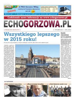 Styczeń 2015 - EchoGorzowa