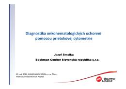 Diagnostika onkohematologických ochorení pomocou prietokovej