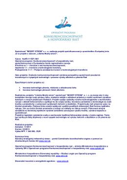 Spolufinancovaný projekt (PDF)