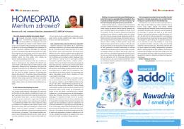 Homeopatia - wywiad z dr Andrzejem Święcickim