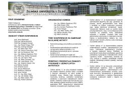 Vedecká konferencia - Katedra aplikovanej mechaniky