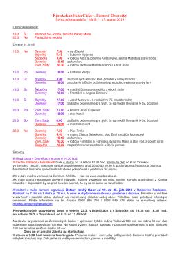 Farské oznamy od 15. do 22. marca 2015 (.pdf)